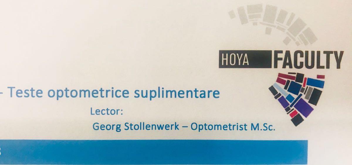 Echipa Gauss a participat la workshop-ul Teste optometrice suplimentare